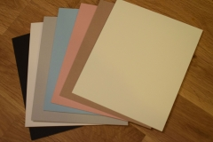 Mount and backing board colours